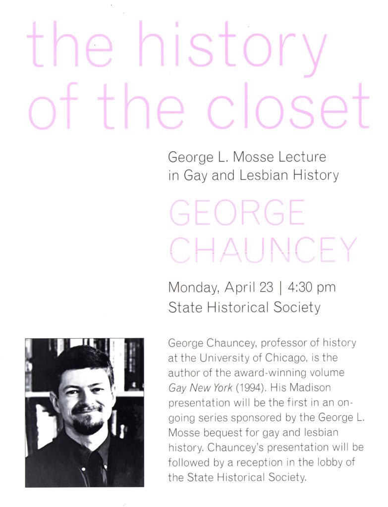 2001.04.23 - George Chauncey - History of the Closet