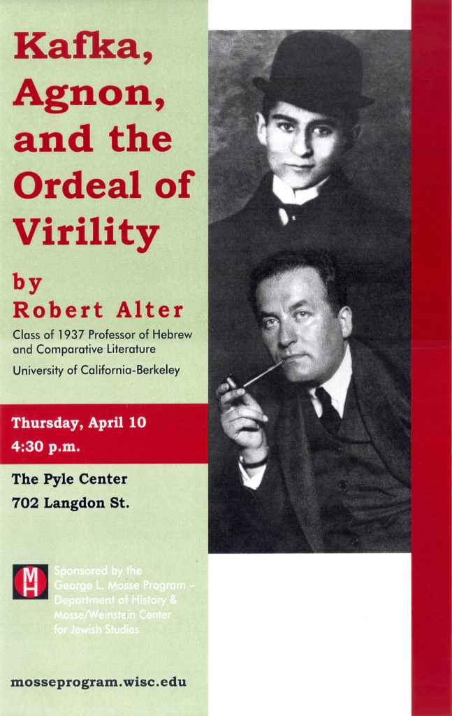 2003.04.10 - Robert Alter - Kafka Agnon and Ordeal of Virility