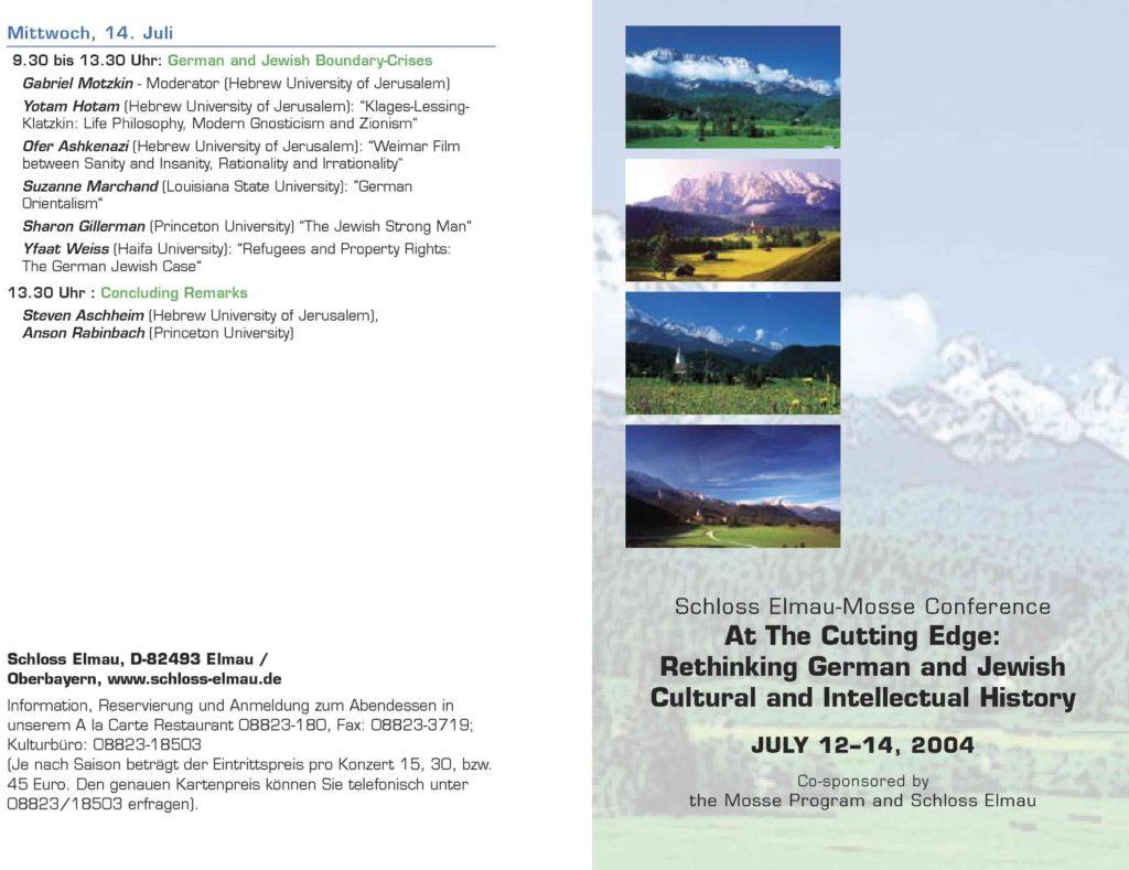 2004.06.12-14 - Schloss Elmau-Mosse Conference