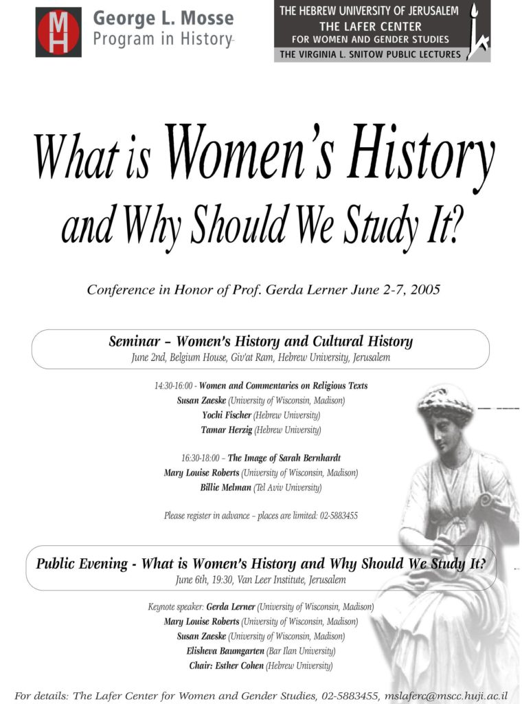 2005.06.02-07 - Gerda Lerner - What is Women's History