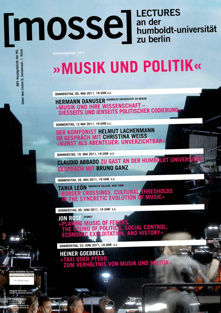 2011 - Mosse-Lectures
