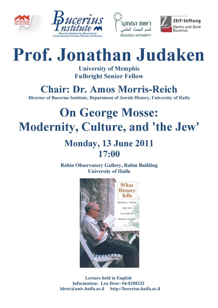 2011.06.13 - Jonathan Judaken - On George Mosse