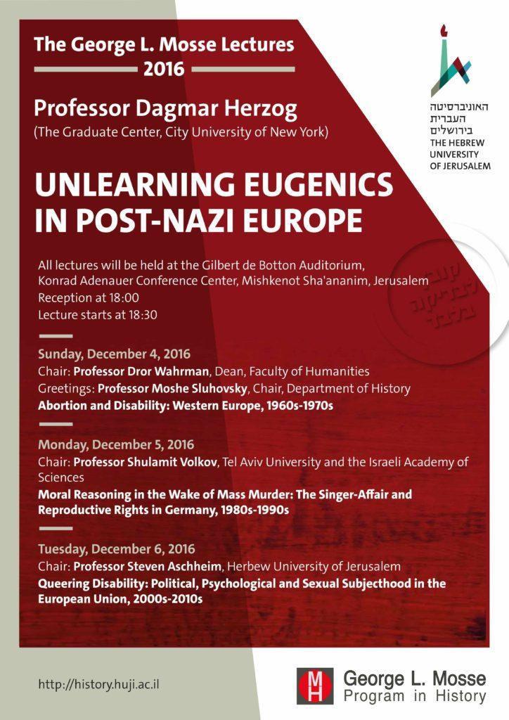 2016.12.04-06 - Dagmar Herzog George L Mosse Lectures 02