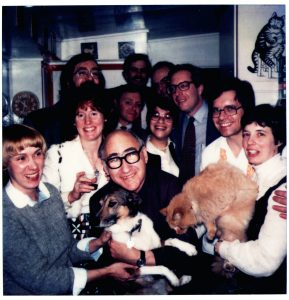 George with his students 1982