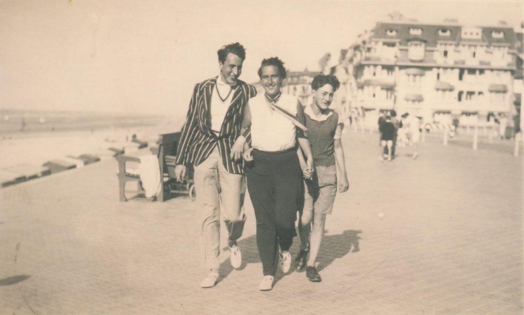 1930s - Rudolf, Hilde, George Mosse on holiday